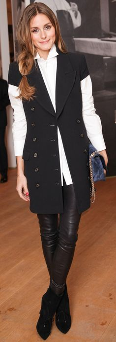 Look at Olivia Palermo, mastering the menswear thing...