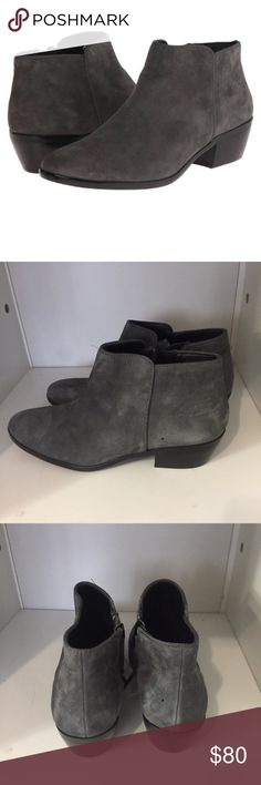 Suede ankle booties Grey suede ankle booties. Brand new!!!! No trade. I will take offer Sam Edelman Shoes Ankle Boots & Booties