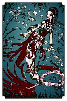 MerGeisha ~ by NightOwl Doll Divine, Doll Maker, Mind Blown, Creatures, Daughter, Dolls, Mermaids, Artwork, Tattoo Ideas