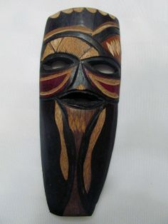 Wooden African Mask (Swazi) - Made in Swaziland - Hand crafted - African Masks, Hand Carved, Carving, Hands, Boutique, How To Make, Crafts, Manualidades, Wood Carvings