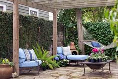 "Patio in Charleston   (from my favorite NY Times feature, ""What You Can Get for Monopoly Money"")."
