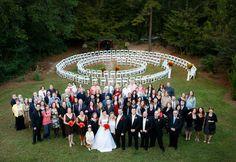 Spiral Chair set up!  #weddingspiral #spiralchair #spiralaisle  @vecoma at the yellow river