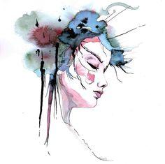ET POURANT IL PLEUT 29.7 x 30 cm // vegetal inks on paper ninette