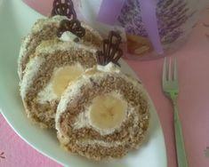 Orechová roláda s banánom (fotorecept) - recept   Varecha.sk Yummy Treats, Tiramisu, Pudding, Tasty, Ethnic Recipes, Desserts, Banana, Tailgate Desserts, Deserts