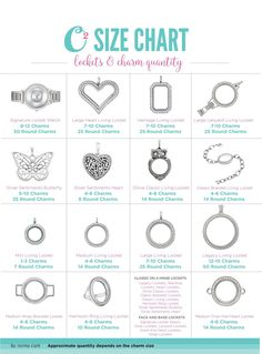 Origami Owl Size Chart | Origami Owl Living Lockets | How Many charms fit in an Origami Owl locket? | Origami Owl Gifting Collection 2017 | Origami Owl FAQ | Email kristy@foreversparkly.com for a free gift