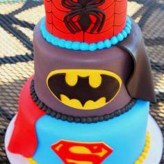 Superhero Cake (3 of my faves)