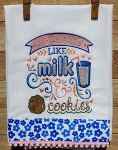 We go together like milk and cookies... by seechriscreate on Etsy