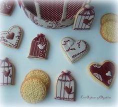 Galletas de San Valentín Valentine Cookies, Valentines, Bird Cookies, Monsters, Inspiration, Decorated Cookies, Recipes, Valentine's Day Diy, Biblical Inspiration
