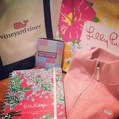 Lily and Vineyard Vines love my agenda and iPad cover