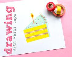 Omiyage Blogs: Drawing With Washi Tape