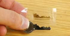 How To Make An Emergency Spare Key Using Household Items via LittleThings.com