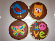 Hippie Chick Birthday Cookies