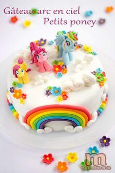 Gâteau arc en ciel des Petits Poneys - Macaronette et cie