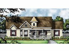 Country House Plan with 1753 Square Feet and 3 Bedrooms from Dream Home Source | House Plan Code DHSW12439