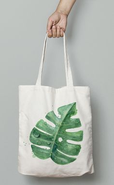 torby na zakupy - damskie-Torba Eco Monstera