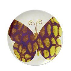 Giraffe Print Butterfly Golden Yellow Dinner Plate. Yellow Dinner PlatesParty ...  sc 1 st  Pinterest & Giraffe paper plates | Plates | Pinterest | Giraffe