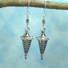 handmade earrings silver lantern by hyacinthsbyme on etsy 1000