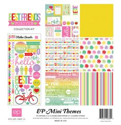 New mini collection from Echo Park Paper. Scrapbook Stickers, Scrapbook Paper, Scrapbooking, Best Friends Forever, Forever Love, Echo Park Paper, Paper Companies, Simple Stories, Fancy Pants