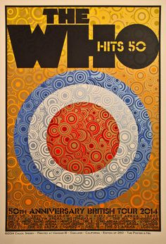 Chuck Sperry The Who 50th Anniversary British Tour Artist Edition Poster....  To purchase this piece or any other limited edition art prints, visit us @ Printdrop.com