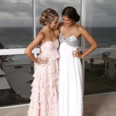 Picture perfect before your wedding with your maid of honor/bridesmaid/best friend :)