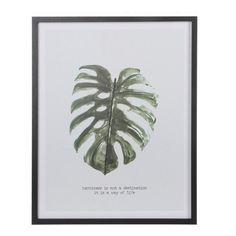 Mica wanddecoratie (45x57 cm) , Groen/wit/zwart