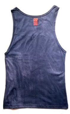 Navy Tiedye Vest - Back Red Tag Brand