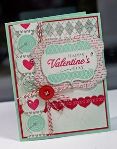 Lisa Johnson Poppy Paperie; a little twist to the typical pink and red valentine