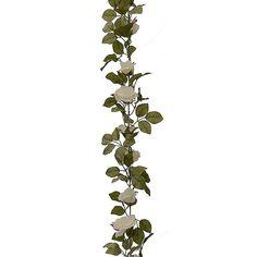 Artificial Garland - Rose 180cm, Cream