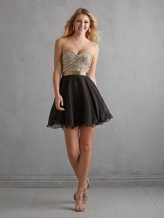 e63b61e9308 Night Moves champagne  amp  black baby doll dress Prom Dresses 2015