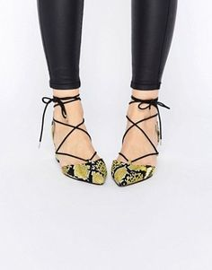 ASOS STORY Lace-up Pointed Heels
