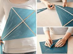 15 DIY Kite Making Instructions for Kids Craft Projects For Kids, Crafts For Kids To Make, Diy Craft Projects, Craft Tutorials, Summer Activities, Craft Activities, Kites Craft, Kites Diy, Creative Crafts