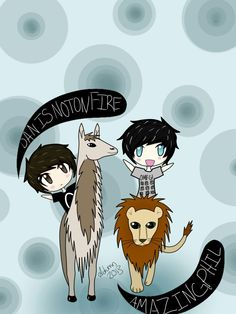 danisnotonfire and amazingphil. I am amazed on how the lion hasn't attacked the lama yet. Daniel James Howell, Dan Howell, Dan And Phill, Phil 3, Danisnotonfire And Amazingphil, Dodie Clark, Tyler Oakley, Cat Whiskers, Phil Lester