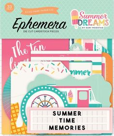This set is perfect for SUMMER! Echo Park - Summer Dreams Collection - Ephemera (afflink(