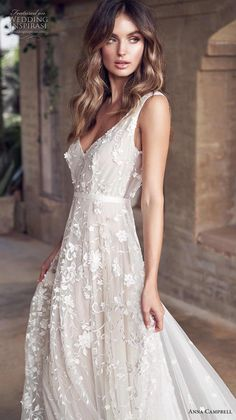 f70f74d2f359b anna campbell 2019 bridal sleeveless v neck full embellishment romantic  pretty modified a line wedding dress
