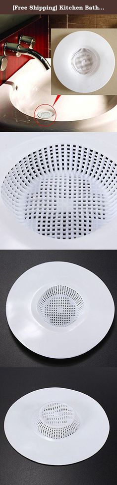 [Free Shipping] Kitchen Bathroom Outfall Filter Hair Strainer Drain Cover Plug // Cocina baño emisario filtro colador pelo enchufe cubierta de drenaje. Cocina baño emisario filtro colador pelo enchufe cubierta de drenaje en . Comprar moda Escurrir Protector en línea. Specification:100% brand new and high qualityPerfect tool to prevent drain from being trappedBe made from PVC, it's durable and easy to cleanFit for most drain holeColor: WhiteSize: 12x1.5cmWeight: 21gPackage Included:1x…