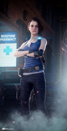 Jill Valentine - Resident Evil 3 Remake (EEVEE) by FrankAlcantara on DeviantArt Valentine Resident Evil, Resident Evil Girl, Resident Evil 3 Remake, Resident Evil Collection, Adventure Time Tattoo, Cyberpunk Girl, Horror Video Games, Jill Valentine, Pose