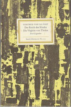 Insel-Bücherei IB 111/2 von le Fort: Das Reich des Kindes ... (57.-59.Tsd.) | eBay