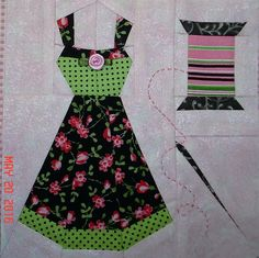 "Splendid Sampler - Block 28 - ""Stitching Fashion"" by Cher Hamilton"