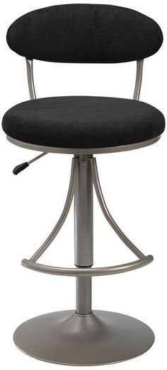 Hillsdale Furniture 4210-824H Venus Swivel Bar Stool - Black Suede