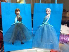 Frozen Disney Princesses Elsa and Anna favor bags