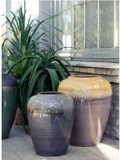 Broste, Rio Vase Yellow Glaze, WILD-SWANS.COM