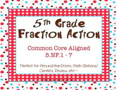 Fraction task cards for review.  (common core aligned)