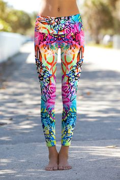 Wicked Graffiti – Eco-Friendly Printed Performance Leggings - Ocean Avenue Boutique