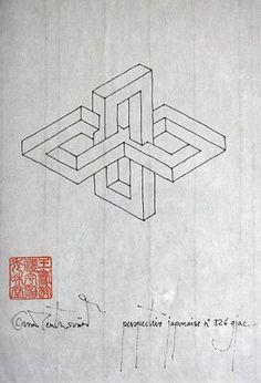 Are designations congruent with things? Is language the adequate expression of a. - Are designations congruent with things? Is language the adequate expression of all realities? Art Optical, Optical Illusions, Geometric Nature, Geometric Shapes, Triangle De Penrose, Weird Shapes, 3d Drawings, Illusion Art, Branding