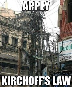 Apply Kirchhoff's law, pic from G+