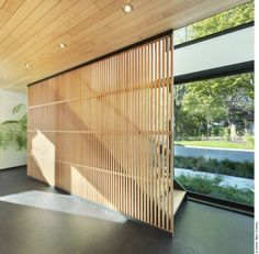 Simple Elegant Wood Slat Ceiling Panels