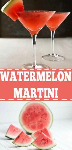 Watermelon Martini Recipes, Watermelon Alcoholic Drinks, Apple Martini Recipe Vodka, Cucumber Martini Recipe, Strawberry Martini, Martini Bar, Martinis, Pink Martini, Drink Recipes