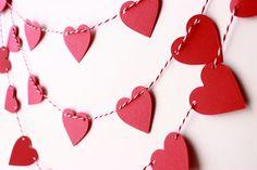Valentines Day Decor Valentine Garland Wedding by MailboxHappiness