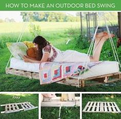 Great Summer Idea! Move Over Hammocks: How to Make an Outdoor Bed Swing (would need to weatherize. The salt air would kill this otherwise) by Jinx62