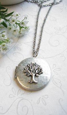 Excessorize | Silver Tree Locket Necklace